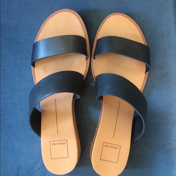 d96618ad1f2 Dolce Vita Shoes - Dolce Vita Black Paci Wedge Sandal 9.5